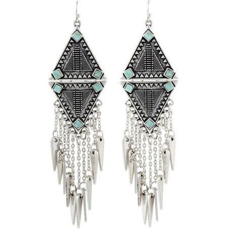 Up to 65% OFF -  - Ethnic Vintage Silver Plated Tassels Drop Long Earrings | Wiki Wiseman