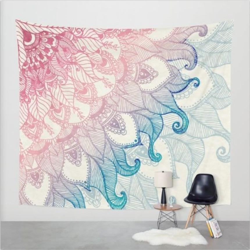 "Up to 65% OFF -  - ""Psychedelic Leaves"" Tapestry 