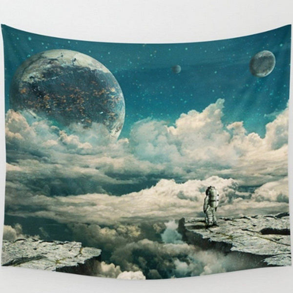 "Up to 65% OFF -  - ""Space Explorer on the Edge"" Tapestry 