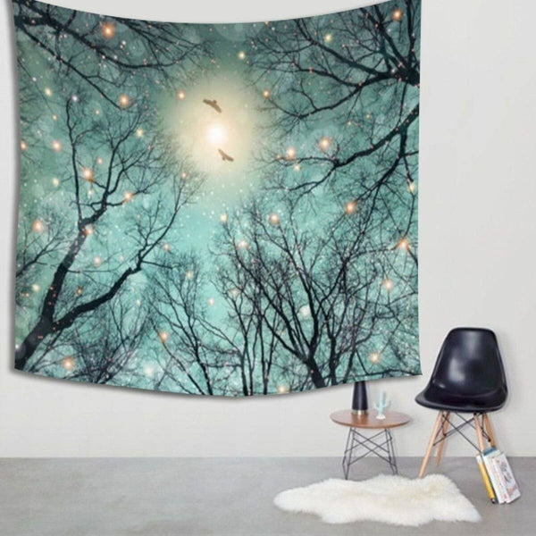 "Up to 65% OFF -  - ""Winter Fairies in Snow"" Tapestry 