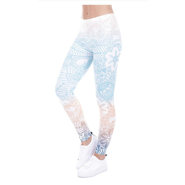 Up to 65% OFF -  - Soothing Mandala Elastic Fitness Yoga Leggings | Wiki Wiseman