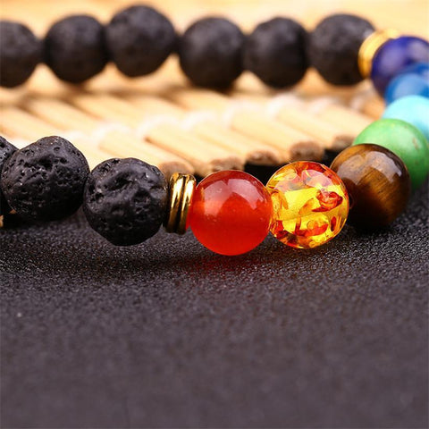 Up to 65% OFF -  - FREE: Natural Black Lava Stone 7 Chakra Balancing Bracelet | Wiki Wiseman