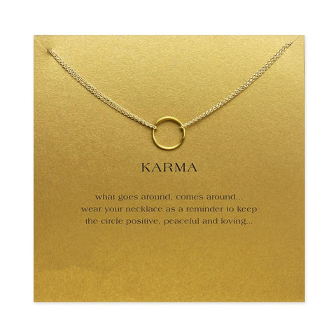 FREE: karma Circle Ring Chain Necklace