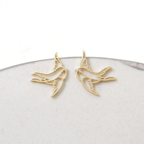 Up to 65% OFF -  - Charming Swallow Stud Earring | Wiki Wiseman