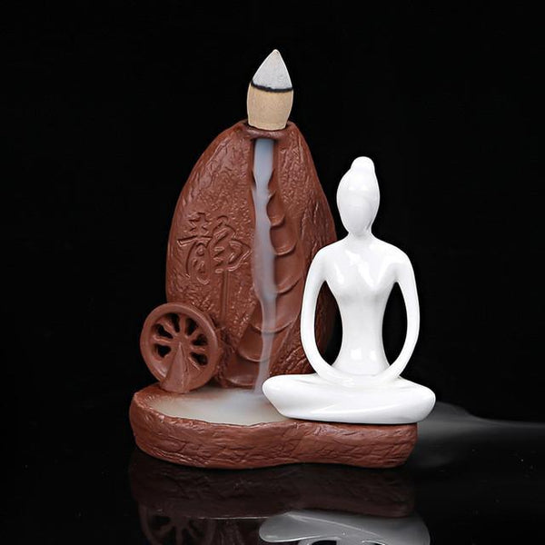 Up to 65% OFF -  - Meditating Goddess Ceremonial Backflow Incense Burner | Wiki Wiseman