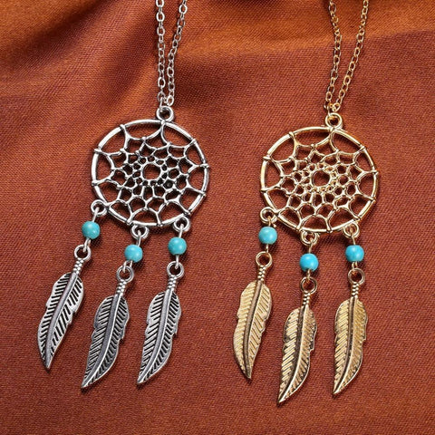 Up to 65% OFF -  - Blue Turquoise Dream Catcher Pendant | Wiki Wiseman