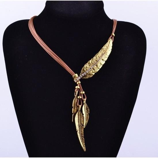 Up to 65% OFF -  - Hippy Ethnic Multilayer Feather Choker Necklace | Wiki Wiseman