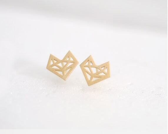 Up to 65% OFF -  - Origami Friendly Fox Stud Earrings | Wiki Wiseman