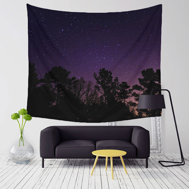 "Up to 65% OFF - Tapestry - Stargazer collection - ""Violet Night"" Tapestry 