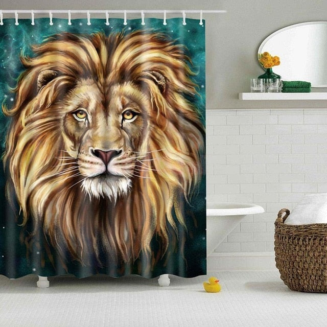 "Up to 65% OFF - Shower Curtains - ""Guardian"" Lion Shower Curtain 