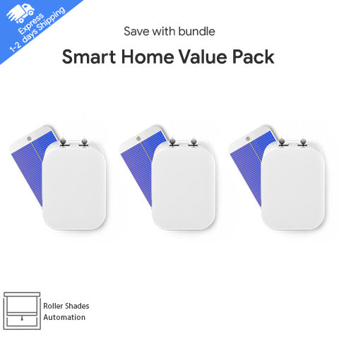 Smart Home Value Pack - 3x Smart Shades + 3x Free Solar Panels