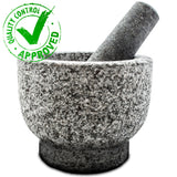 Mortar and Pestle Made of 100% Granite Bonus Include: Avocado Slicer