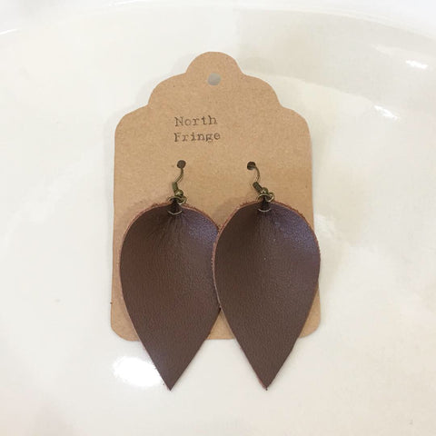 Fringe leather earrings