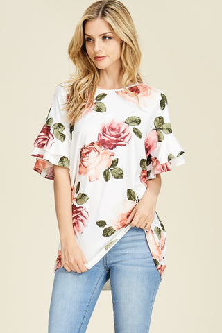 Holly Floral Top