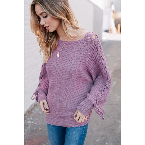 Lexie Lace-Up Sweater