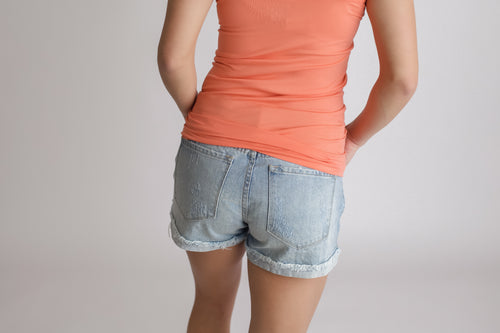 Lianna Light Wash Jean Shorts