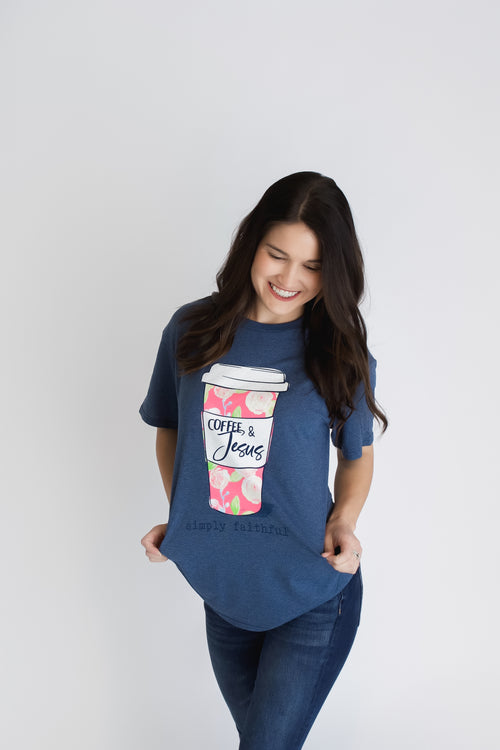 Simply Faithful Coffee & Jesus Tee