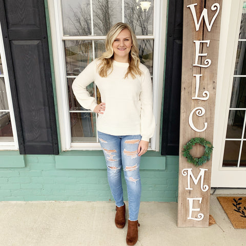 Vanilla Cable Knit Sweater