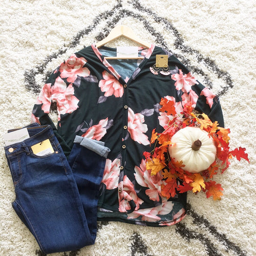 Haley Floral Knit Top