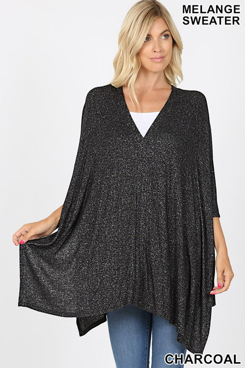 Pretty Poncho in Charcoal