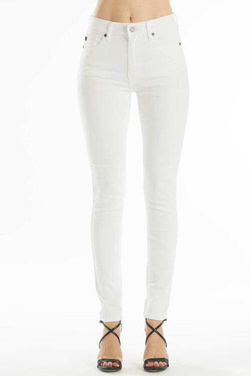 Kacee Mid-Rise White Jean