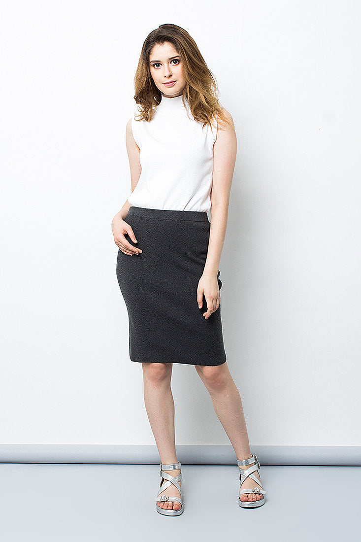 Grey Office Skirt