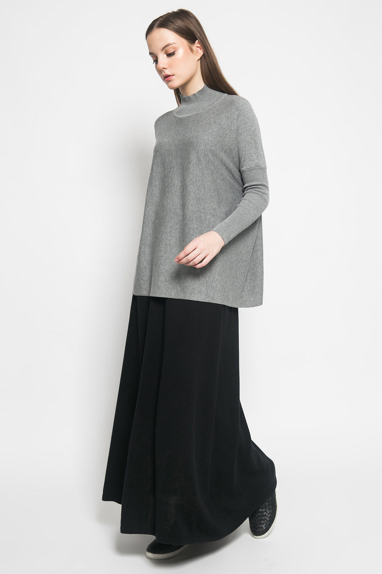 Blue Poncho Lt Grey