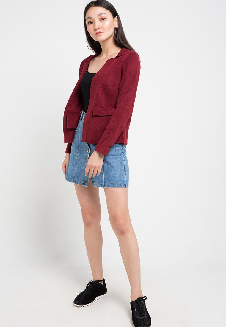BEAN JACKET - MAROON