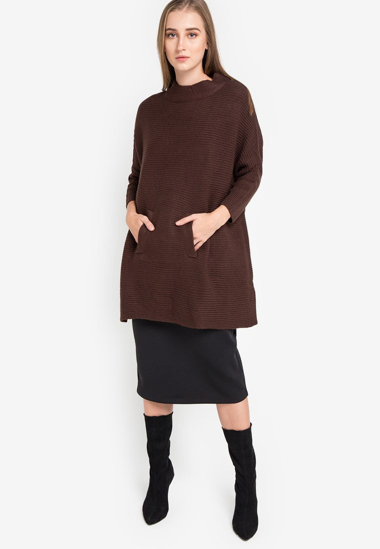 DUSTER PONCHO - BROWN COFFE