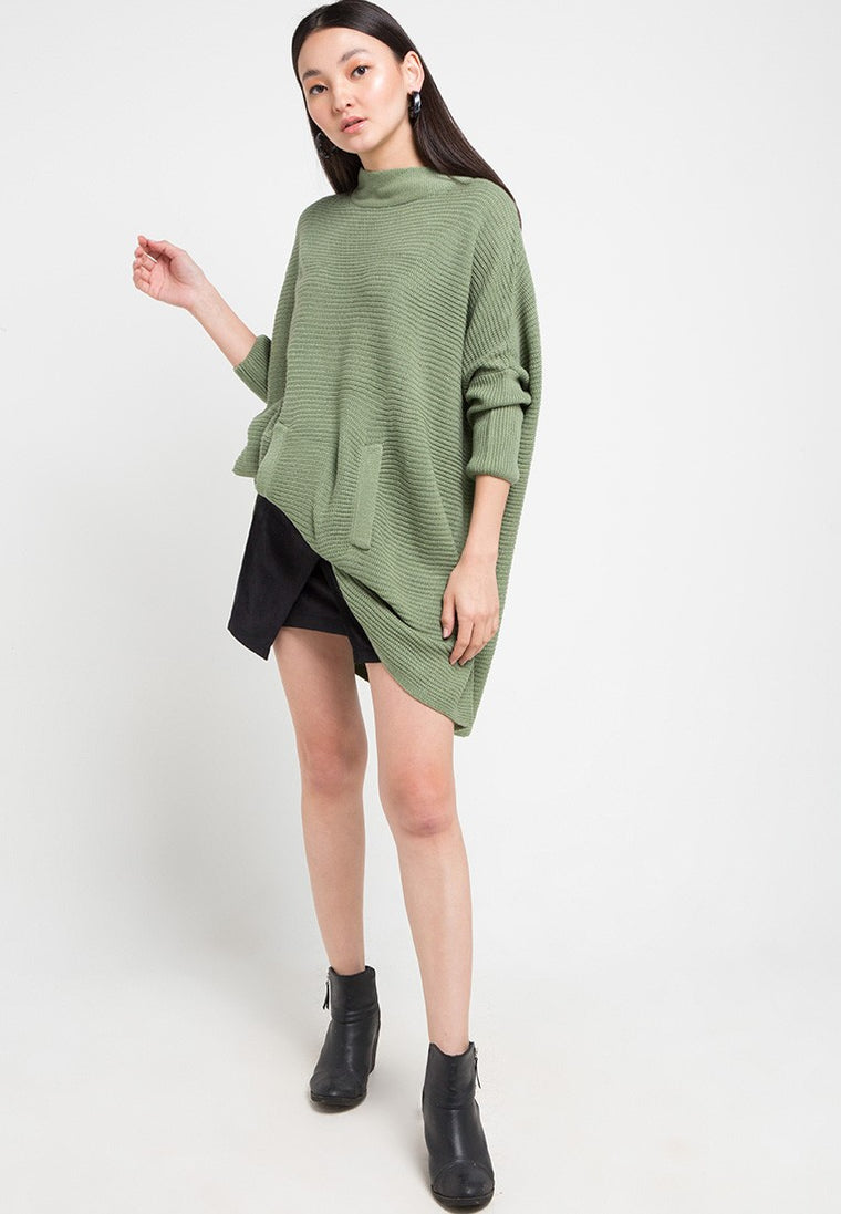 DUSTER PONCHO - LT GREEN