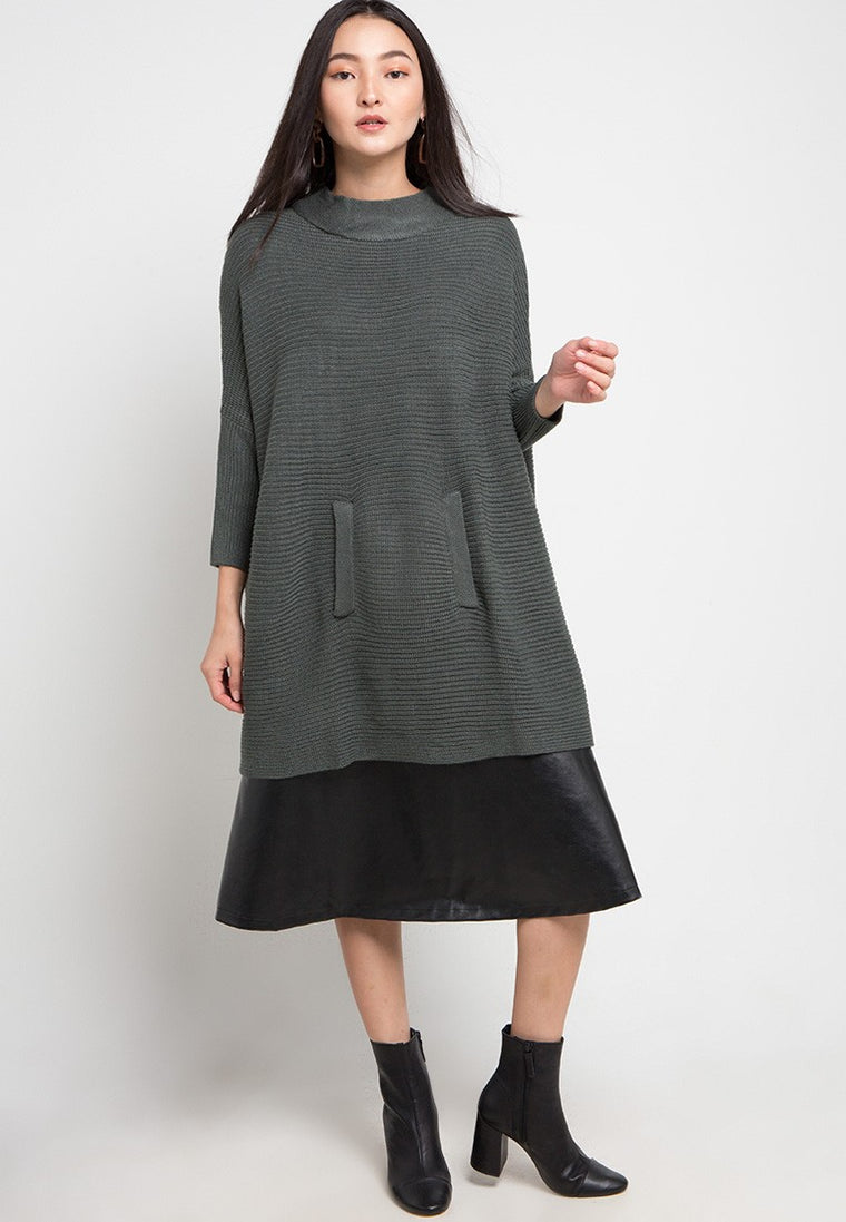 Duster Poncho Grey Green