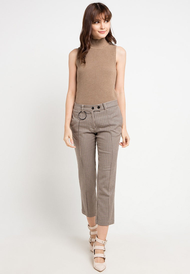 MJ MOCK NECK BROWNMEL