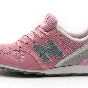New Balance Pink Suede Grey Womens Shoes WR996GH
