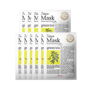 [ARIUL] 7 Days Mask_Grean Tea (10 Sheets)