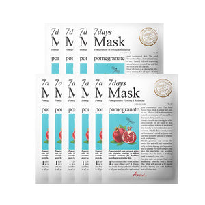 [ARIUL] 7 Days Mask_Pomegranate (10 Sheets)