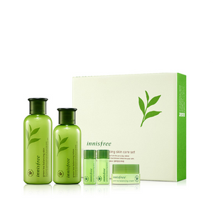 [Innisfree] Green Tea Balancing Skin Care Set (2 Items)
