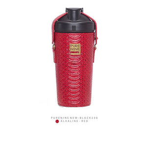 [PURENINE} ALKALI BOTTLE_PYTHON PATTERN RED(PN0013)