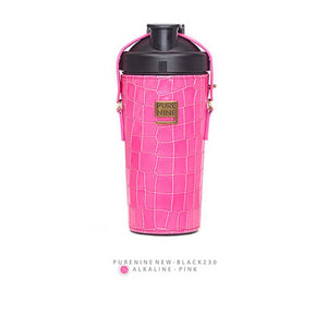 [PURENINE] ALKALI BOTTLE_CROCODILE PATTERN PINK(PN0025)