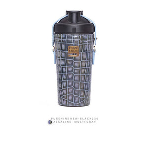 [PURENINE] ALKALI BOTTLE_CROCODILE PATTERN GRAY MULTI(PN0027)