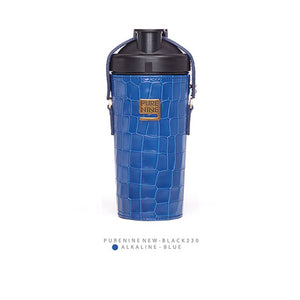 [PURENINE] ALKALI BOTTLE_CROCODILE PATTERN BLUE(PN0031)
