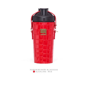 [PURENINE] ALKALI BOTTLE_CROCODILE PATTERN RED(PN0032)