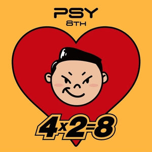 [K-POP] PSY - [4x2=8] PSY 8TH ALBUM CD + Sticker + Booklet K-POP Sealed PSY YG