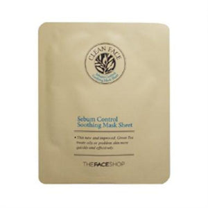 [The Face Shop] Clean Face Sebum Control Soothing Mask Sheet