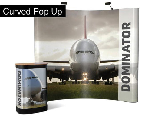 Curved Pop Up Display (double sided) - printexpert.co.uk