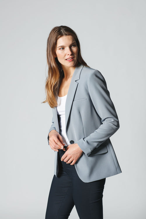 Boyfriend - Fit Blazer aus Materialmix