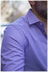 pink checked collar