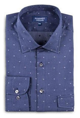 Navy blue shirt spots