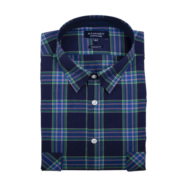 The EDINBURGH Men's Navy Check Shirt