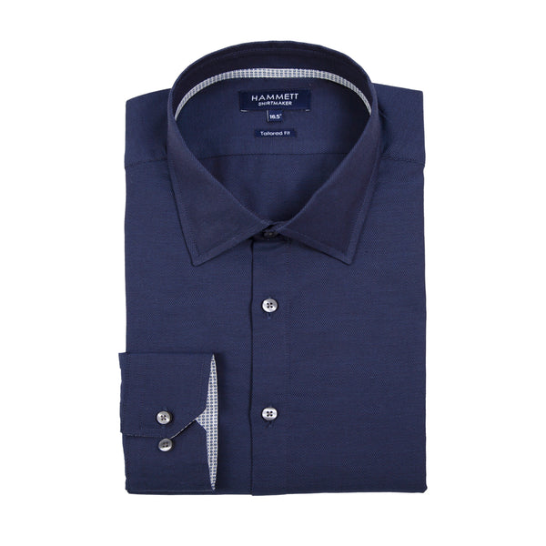 The AMSTERDAM - Men's Indigo Textured Shirt