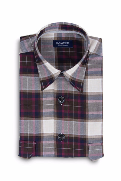 Multi Colour Twill Check Men's Overshirt